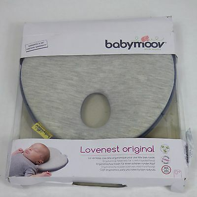 Babymoov Lovenest Head Support (Smokey) Baby Pillow to Prevent From Flat Head