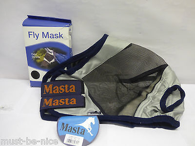 Masta Fly Mask Cob Face/Ears and Nose Cover - Silver COB SIZE