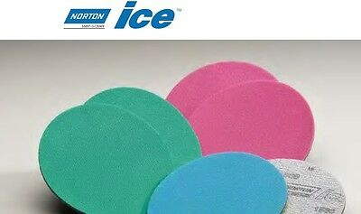 "Norton 06014 -Ice Norgrip Finishing Foam Disc Magenta 6"" inch 2000 grit - 1 box"