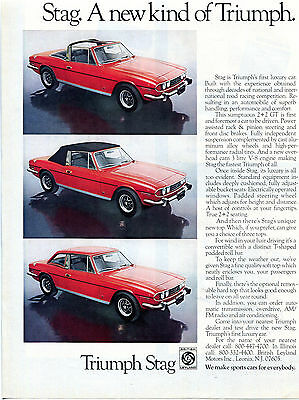 1973 Triumph Stag Color  Sales  Ad