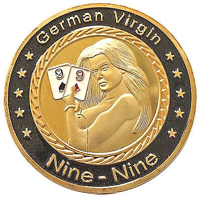 Sexy German Virgin Heads Tails Good Luck Novelty Challenge Coin Gift for Men
