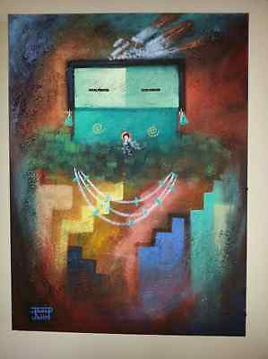 Navajo David K. John Original Painting
