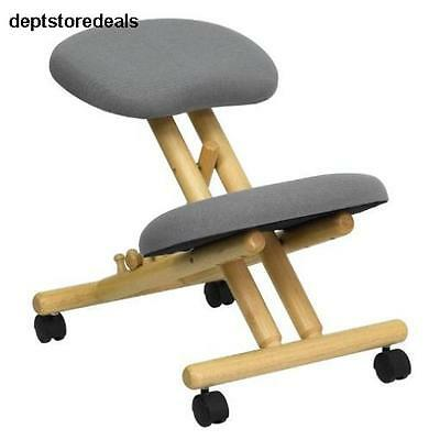 Wooden Kneeling Chair Office Furniture Ergonomic Computer Desk Posture Seat Gift
