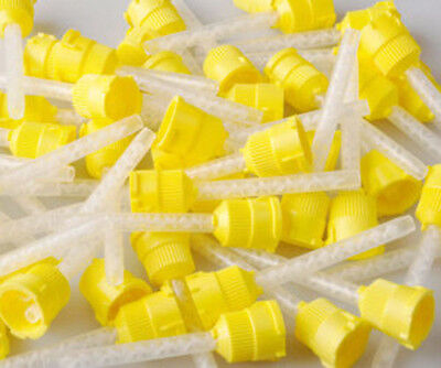 Yellow  HP Mixing Tips For VPS Impressions 4.2MM Dental Impressions 48/Pack