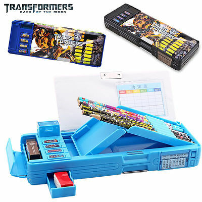 Transformers Students Multifunction Stationery Pencil Case Korean Box 3 Color