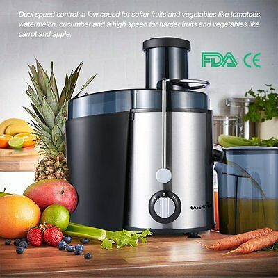 Easehold Fruit Vegetable Centrifugal Juicer Juice Extractor Processor 400W