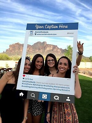 Instagram Style Cutout Frame by SocialCutouts | Wedding Party Photo Booth prop
