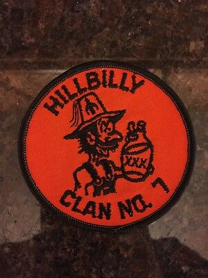 "RARE Masonic Shriners Hillbilly Clan No. 7 Patch - New 3"" Patch Freemason"
