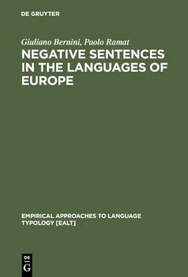 NEW Negative Sentences In The Languages Of Europe by... BOOK (Hardback)
