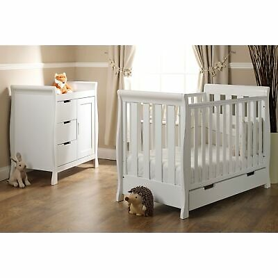 Obaby Baby/Child Stamford Mini 2 Piece Room Set White - Cotbed / Changing Unit