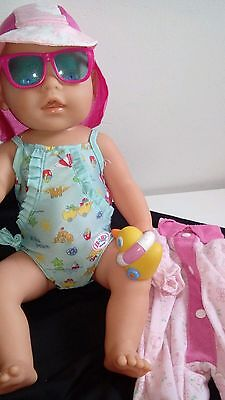 Zapf Creations Baby Born Doll with Pink Eyes in excellent cond Zapf Clothes