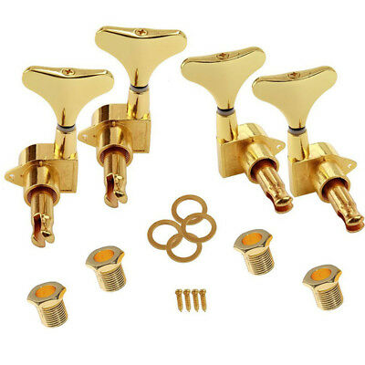 Chosen Bass Guitar Sealed Tuners Tuning Pegs Machine Heads 2R+2L Gold
