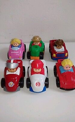 Fisher Price Little People Wheelies Cars Jeeps Farm Vehicles Race Car