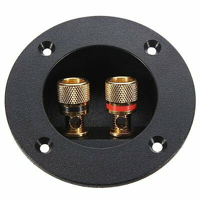 Speaker terminal connection connectors gilded round boxes with 2 banana jack L6