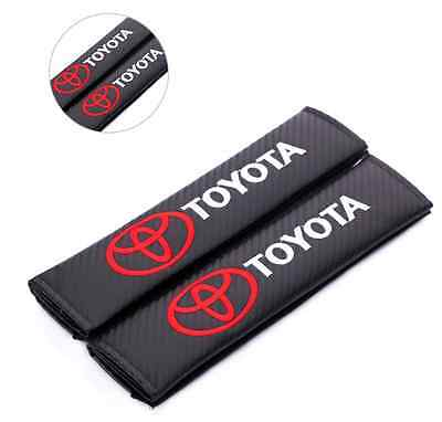 Toyota Carbon Fiber Seat Belt covers x 2
