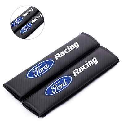 Ford Carbon Fiber Seat Belt covers x 2