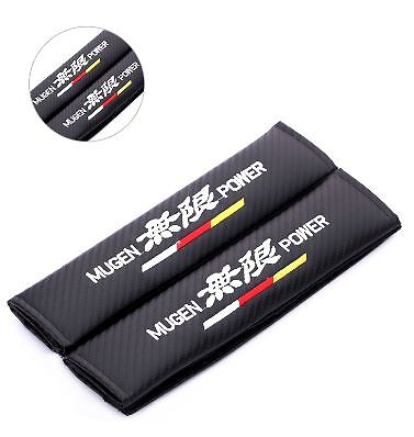 Mugen Power Carbon Fiber Seat Belt covers x 2