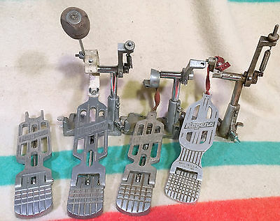Lot of ROGERS Swiv-o-matic 396R 60s Vtg Bass Drum Pedals Hi Hat Foot Plate Swivo