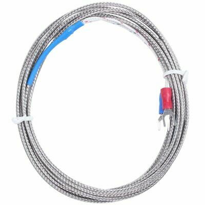 9mm x 5mm Probe Ring K Type Thermocouple Temperature Sensor 2M 6.6Ft L6
