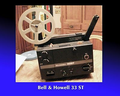 BELL & HOWELL SUPER 8MM sound projector 33 ST