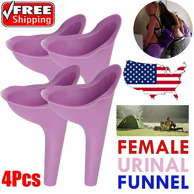 4Pcs Portable Outdoor Female Urinal Camping Urination Toilet Urine Device Funnel