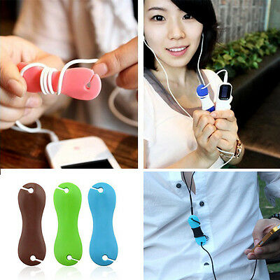 3pcs/set Candy Color Bone Earphone Cable Cord Winder Organizer Wire Holder Wrap