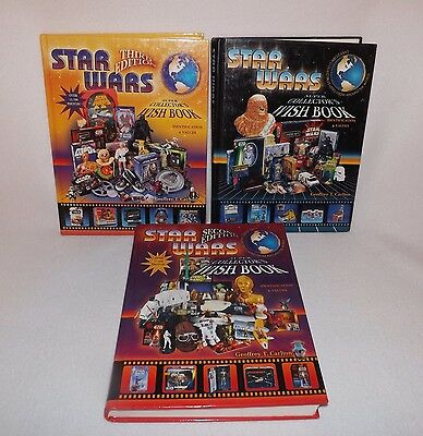 Vintage Star Wars Super Collector Wish Books Price Guides-Carlton Vols 1,2 & 3