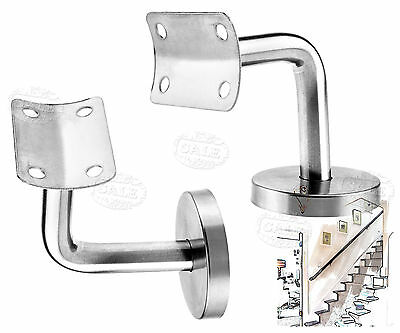 2pcs Stainless Steel Handrail Rod Bannister Stair Wall Brackets