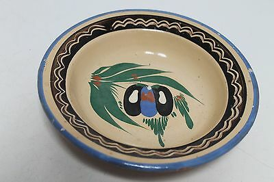 Antique Primitive Ottoman Old Hand Made Ceramic Plate