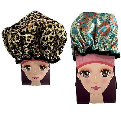 NEW Lady's Gilrs' Luxury  Shower Cap Bath Hat Ueusable Fashion Shower Cap