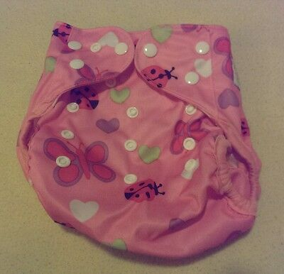 One New Happy Flute Cloth Diaper Cover Nappy Reusable Washable Adjustable Size