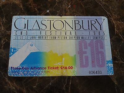 GLASTONBURY Festival 1985 Used ticket Stub Style Council / Ian Dury