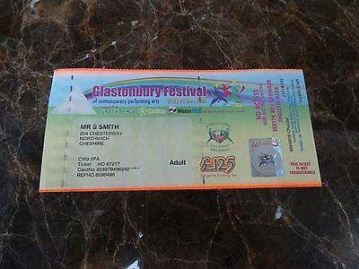 GLASTONBURY Festival 2005 Unused ticket Stub ( White Stripes / New Order  )
