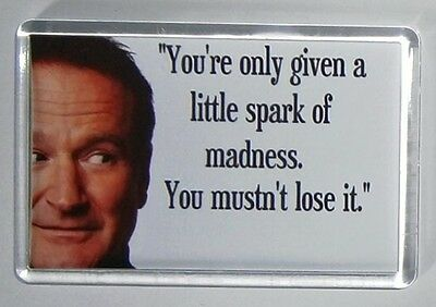 Robin Williams Quote movie poster magnet Keyring  - Jumanji Jack Mrs Doubtfire