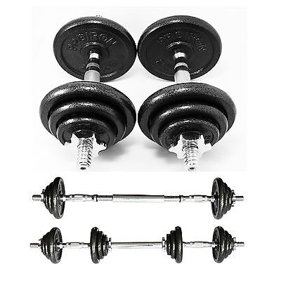 PROIRON 20kg Cast Iron Adjustable Dumbbell Set Hand Weight with Solid Dumbbel...