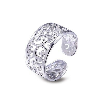 Sterling Silver Toe Rings for Women Adjustable Toe Ring Vintage Foot Beach Je...