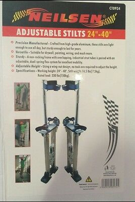 Plasterer Adjustable Stilts 24 – 40 inch