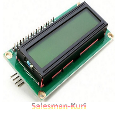 DE Lager !! LCD Display 1602 16x02 Modul & I2C Interface blau & gelb dimmbar