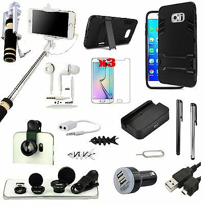All x Accessory Case Cover Charger Fish Eye Monopod For Samsung Galaxy S6 Edge+