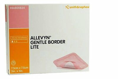 "Foam Dressing Allevyn Gentle Border Lite 3 X 3"" Square Adhesive #66800834"