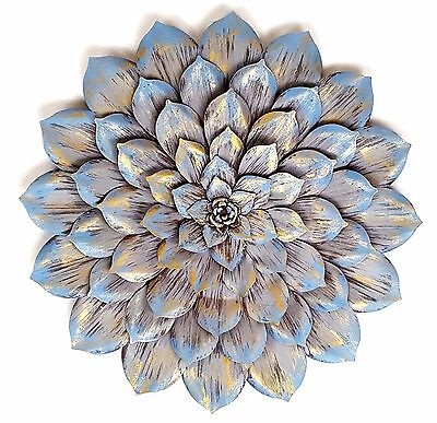 Succulent Flower Metal Hanging Wall Art Plant Sculpture Round Home Garden 81 cm