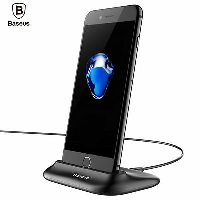 Baseus Little Volcano Charging Dock Station + Cable For Iphone 7 7 Plus - Black