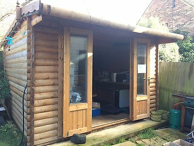 Log Cabin Summerhouse Home Office with Everything by Dunster House