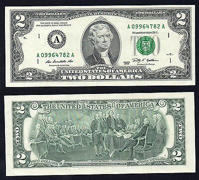 2 Dollars Federal Reserve Note  Serie A1 2009 SPL+/XF+