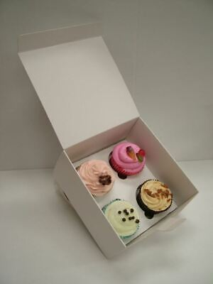 White non windowed cupcake boxes - Select 1, 2, 4 and 6 hole and pack qty