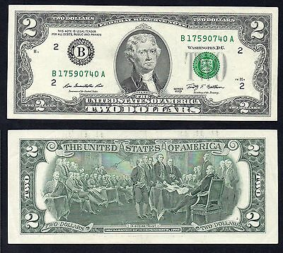 2 Dollars Federal Reserve Note 2009 SPL+/XF+
