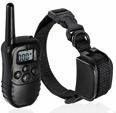 Pet Dog Training Collar Details about Rechargeable Electric LCD 100LV Shock (One