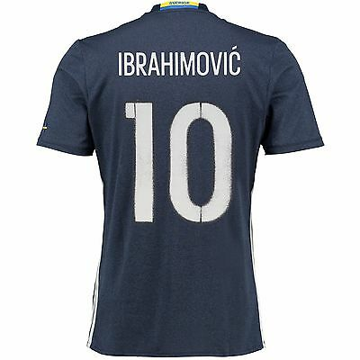 Kids 9-10 yrs Sweden Away Shirt 2016 Ibrahimovic 10 EB81