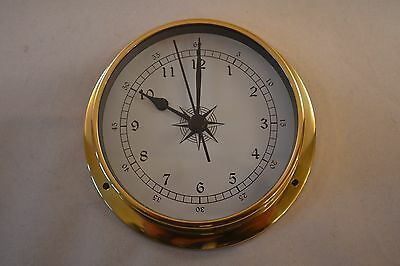 MARINE STYLE CLOCK - SOLID BRASS CASE - 115mm PROKRAFT PKR LMC