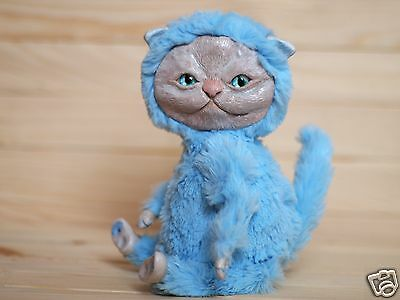 Ooak doll Polymer clay Cat creature Magic fantasy Animal toy Collectibles